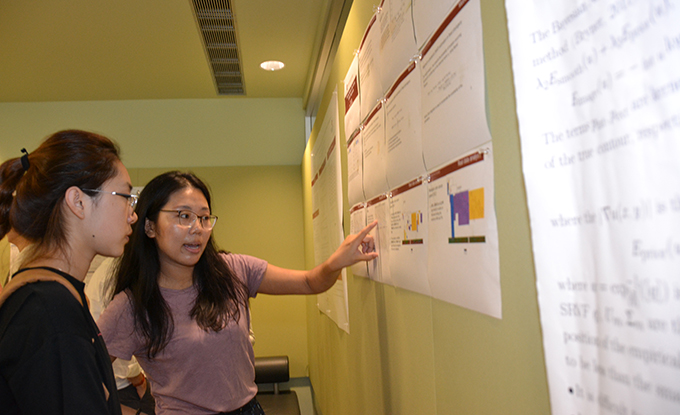 students at 2019 Statistics and Biostatistics Graduate Student Poster Session